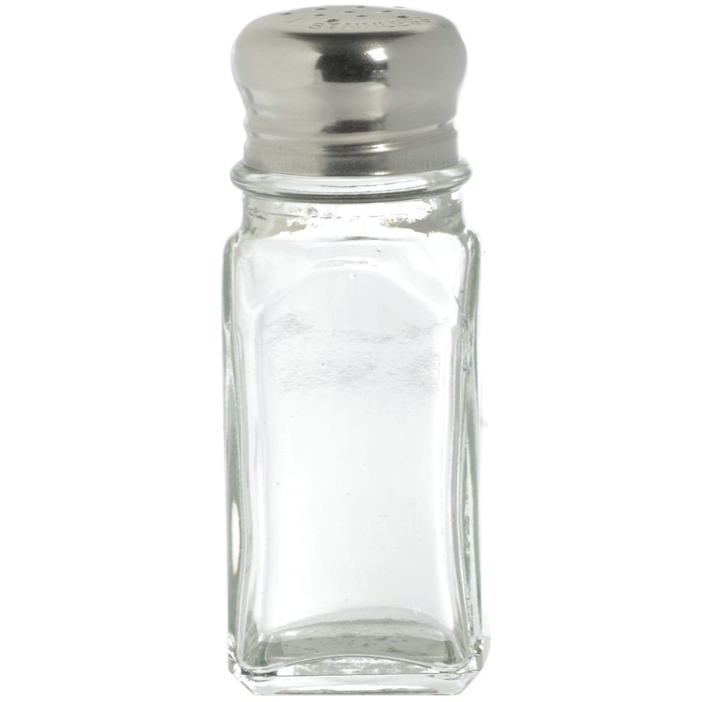 Hubert 2 Oz Clear Glass Saltpepper Shaker With Stainless Steel
