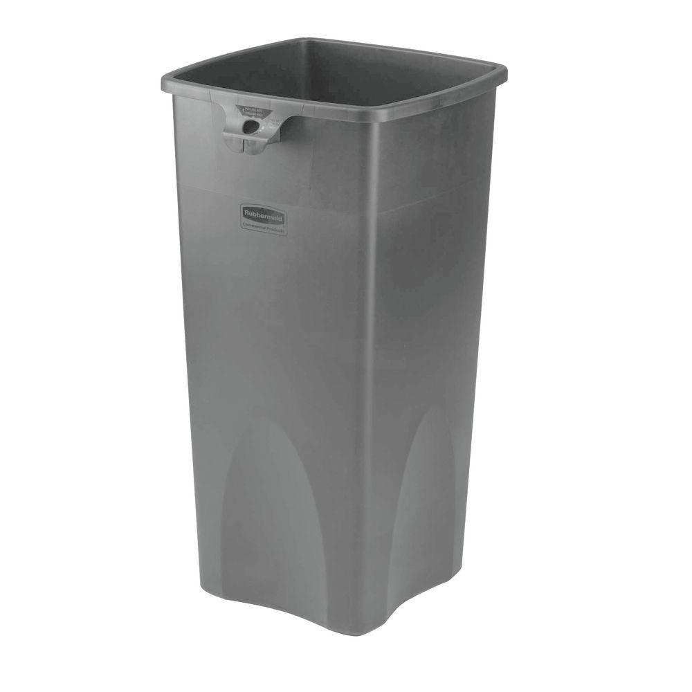 Rubbermaid 23 gal Grey Plastic Untouchable® Trash Receptacle Base ...