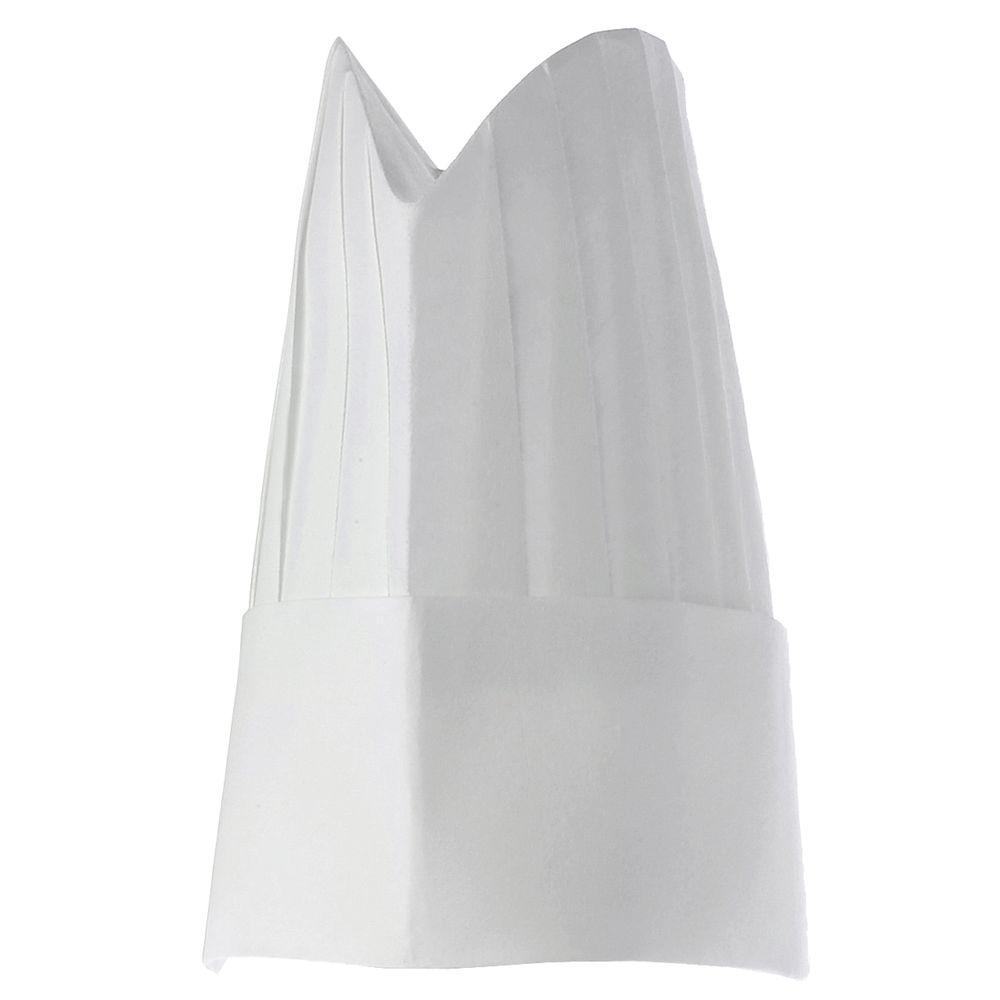 Contoured Disposable Chef Hat Has an Open Top for Circulation