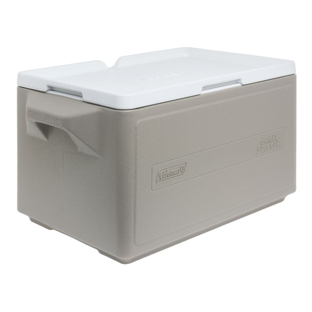 COOLER, PARTY STACKER, COLEMAN, 33 QT, GREY