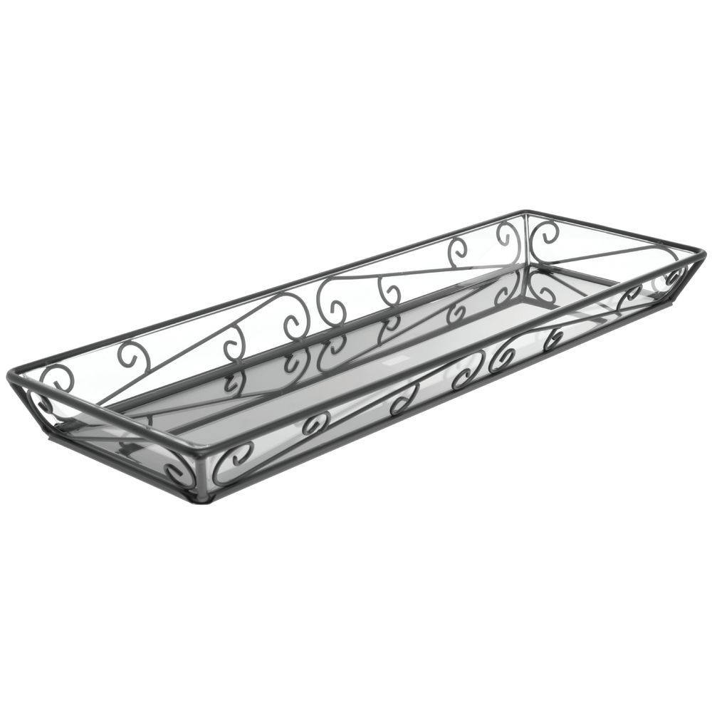 """Delfin Santa Fe Large Serviing Tray With Liner 24""""L x 8""""W x 2""""H"""