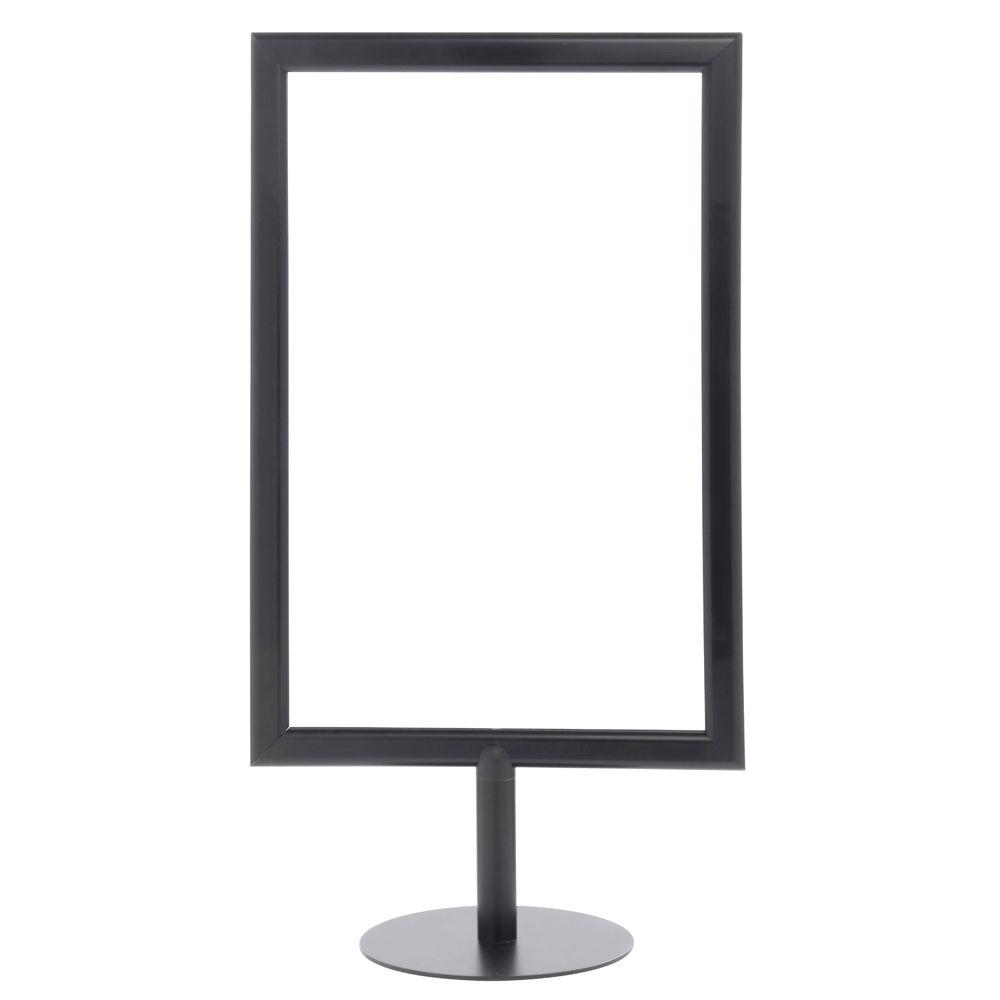 Black Pedestal Sign Holder, 11 x 17