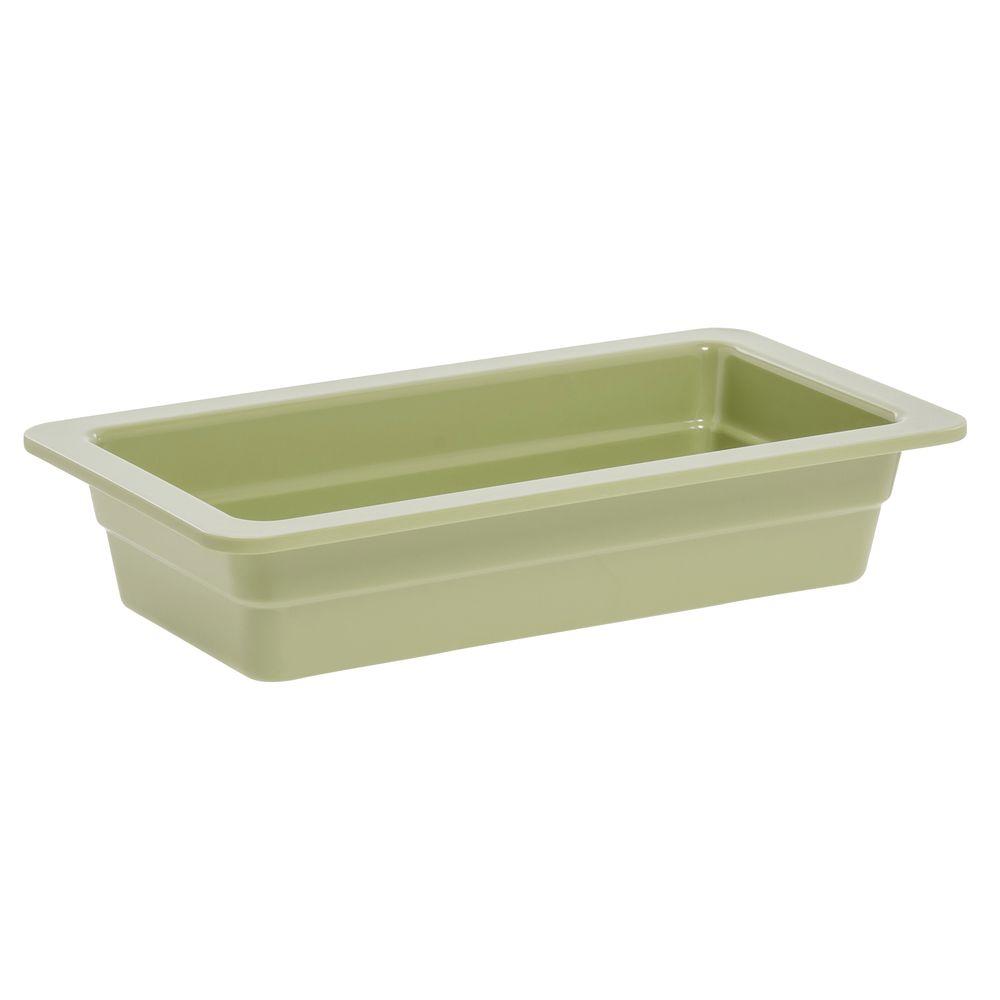"""Expressly Hubert® Third Pan Willow Green Melamine 2 1/2""""D"""