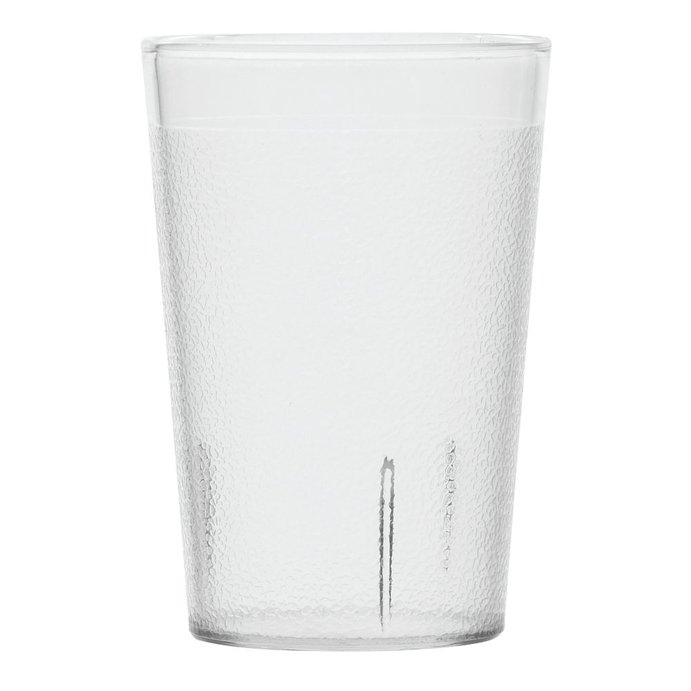 Carlisle Stackable 8 Oz Clear San Plastic Pebbled Tumbler