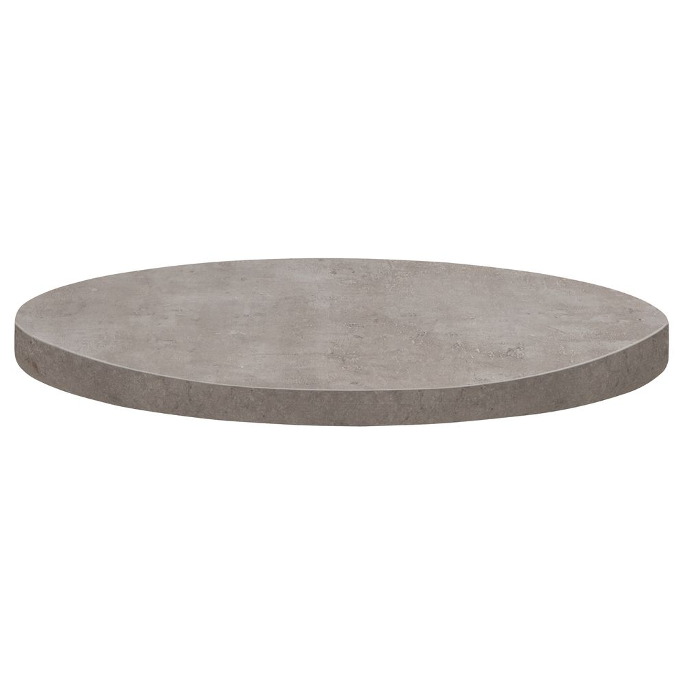 Grosfillex Round Grey Resin Polymers Table Top 36 Dia