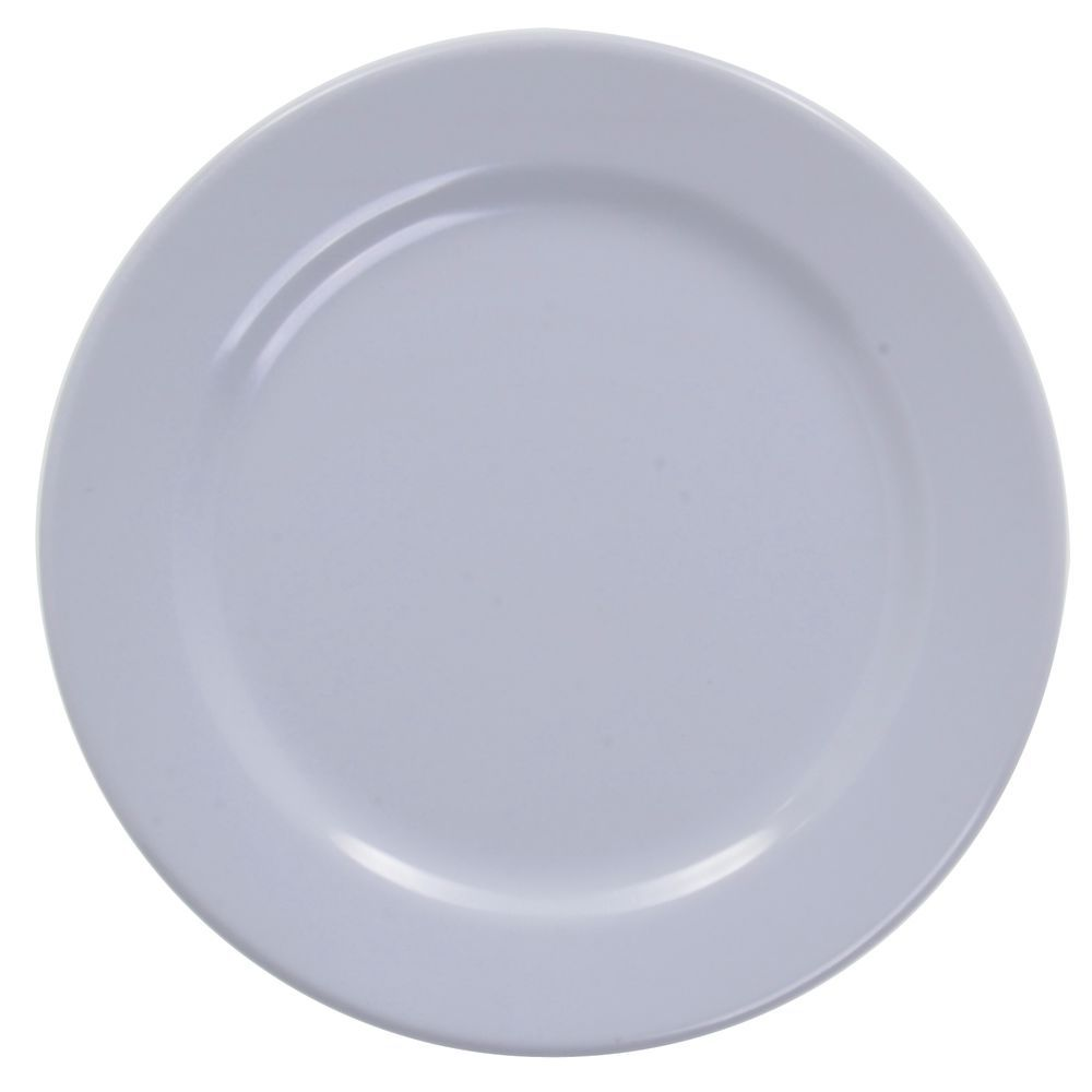 PLATE ROUND RIM WHITE 9\   sc 1 st  Hubert.com & Elite Rio Mid Rim White Melamine Plate - 9\