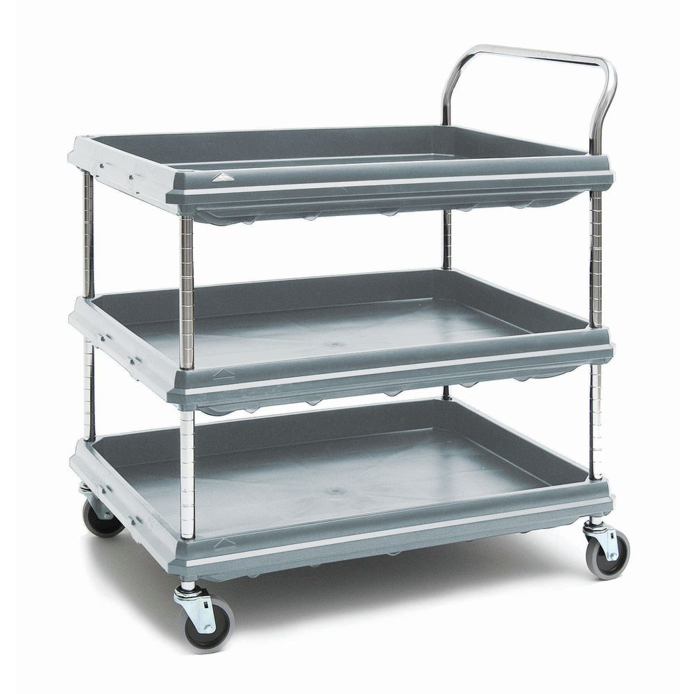 CART, GREY, DEEP LEDGE UTILITY, 3 SHELF