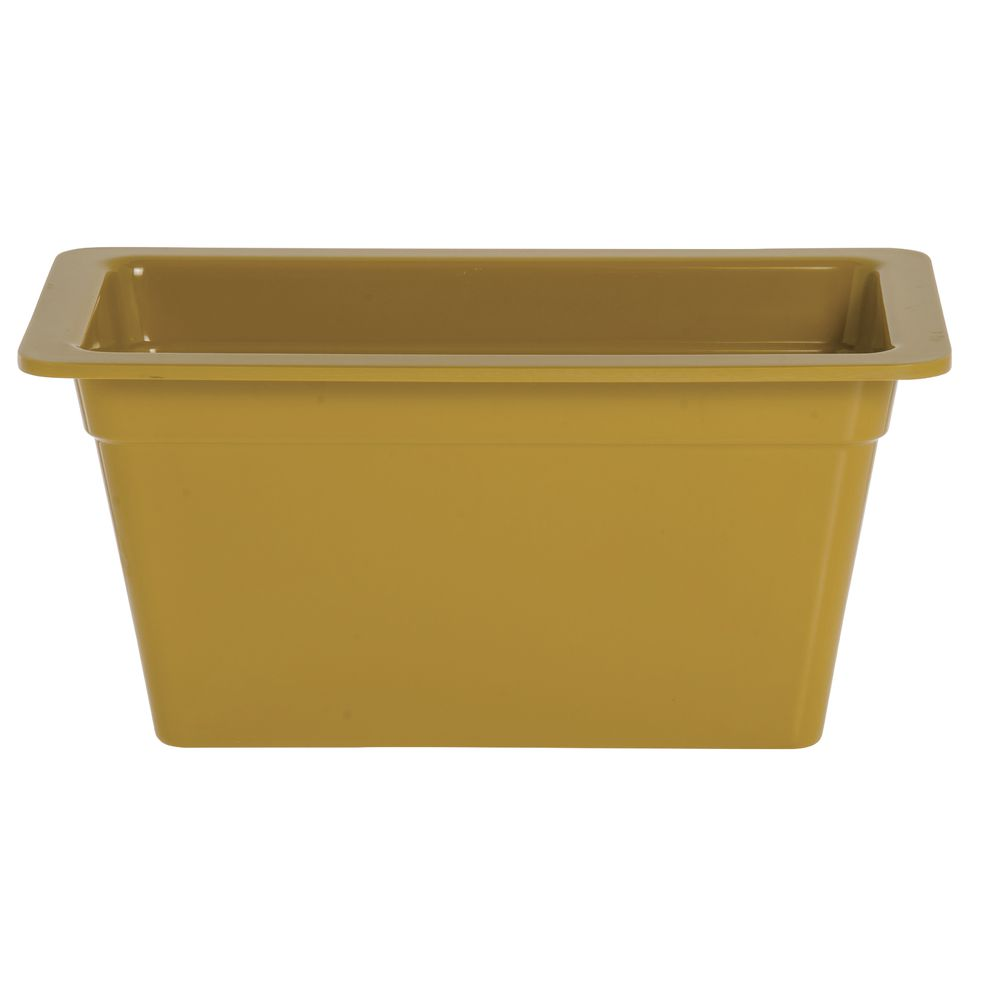 "Expressly Hubert® Third Pan Mustard Yellow Melamine 6""D"
