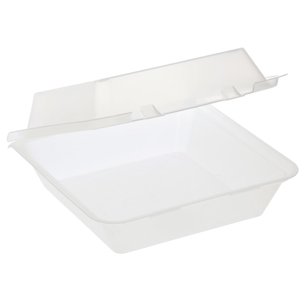 """GET Eco-Takeout Container Clear Plastic 9""""L x 9""""W x 3 1/2""""H"""