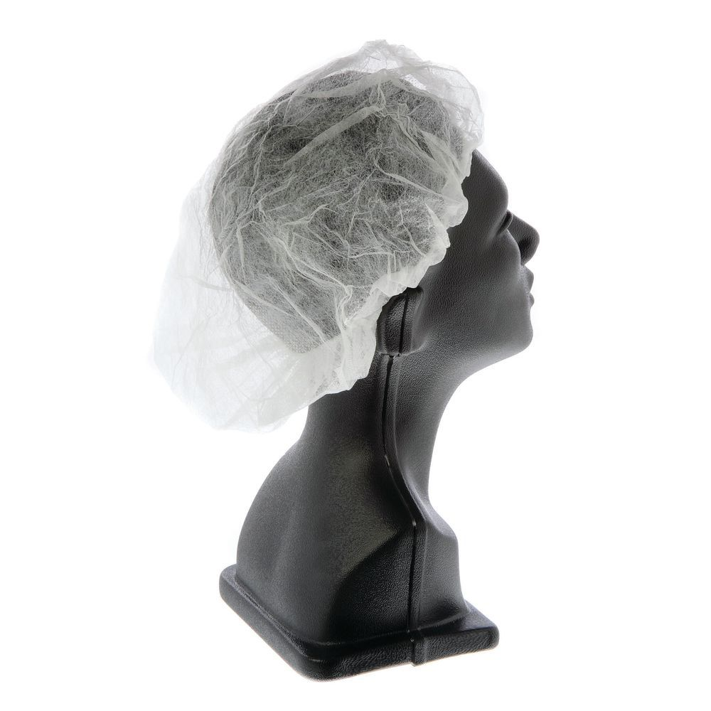 "CAP, BOUFFANT, 18"", WHITE, 1000/CS"