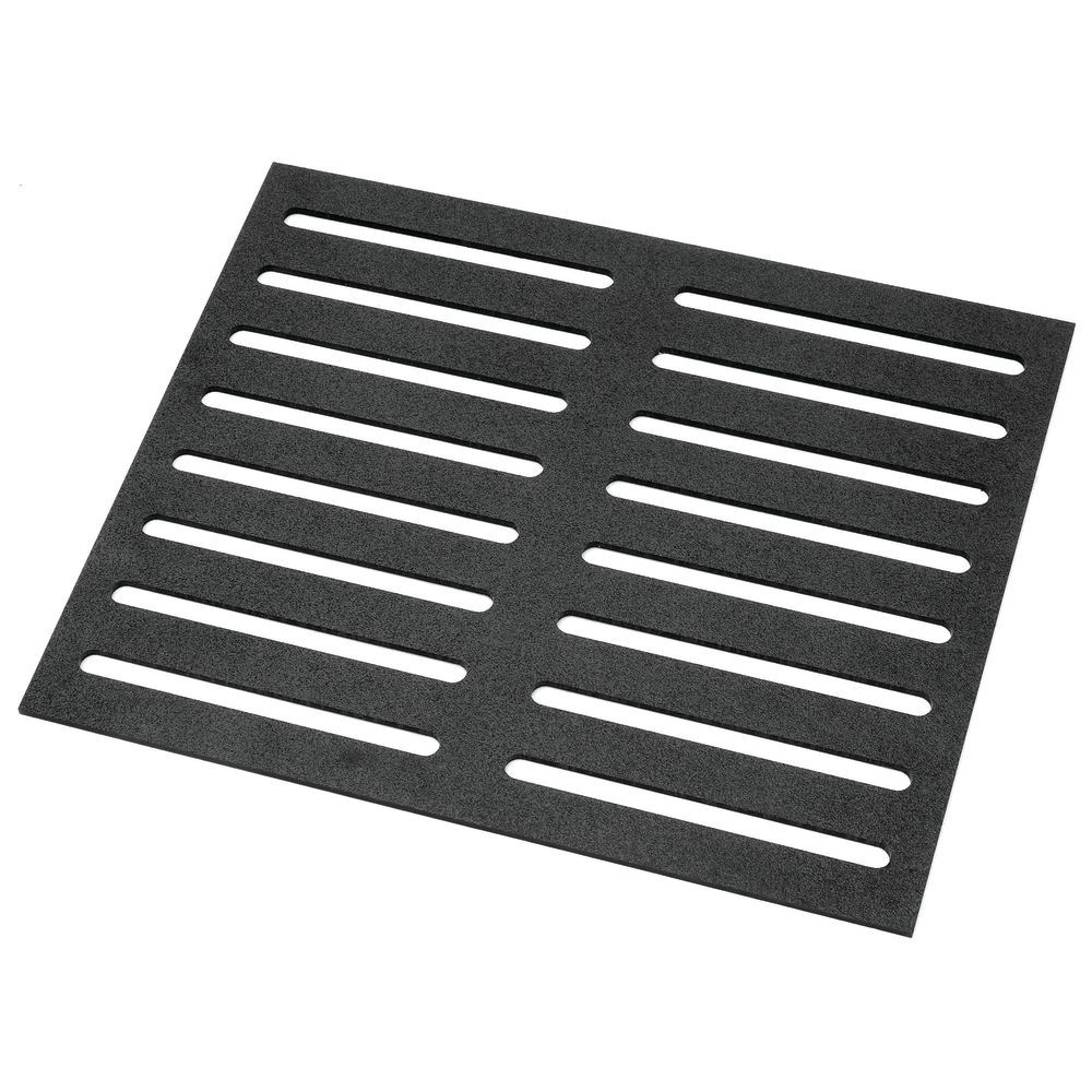 SHEET, 24LX20WX1/4H, BLACK SLOTTED ABS