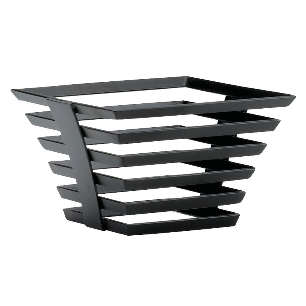 "Cal-Mil Black Metal Tower Riser Food Display 8""L x 8""W x 5""H"
