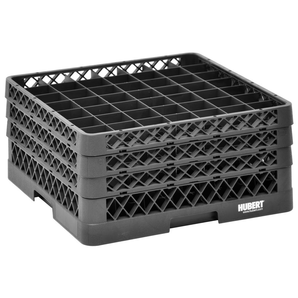 RACK, 49 COMPARTMENT, 3 EXTENDERS, BLACK