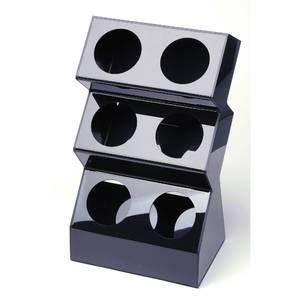 This flatware caddy has a vertical design for Vertical silverware organizer