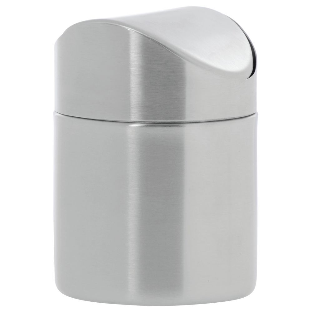 Expressly Hubert Stainless Steel Countertop Trash Can With Swing