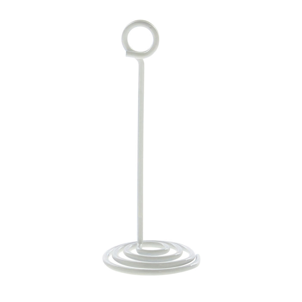"Countertop Spiral Base Sign Holder 5""H White Finish"