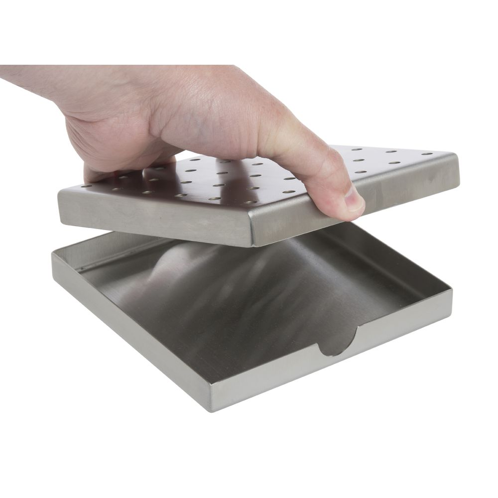 """DRIP TRAY, STAINLES STEEL, 6""""X6""""X1"""""""
