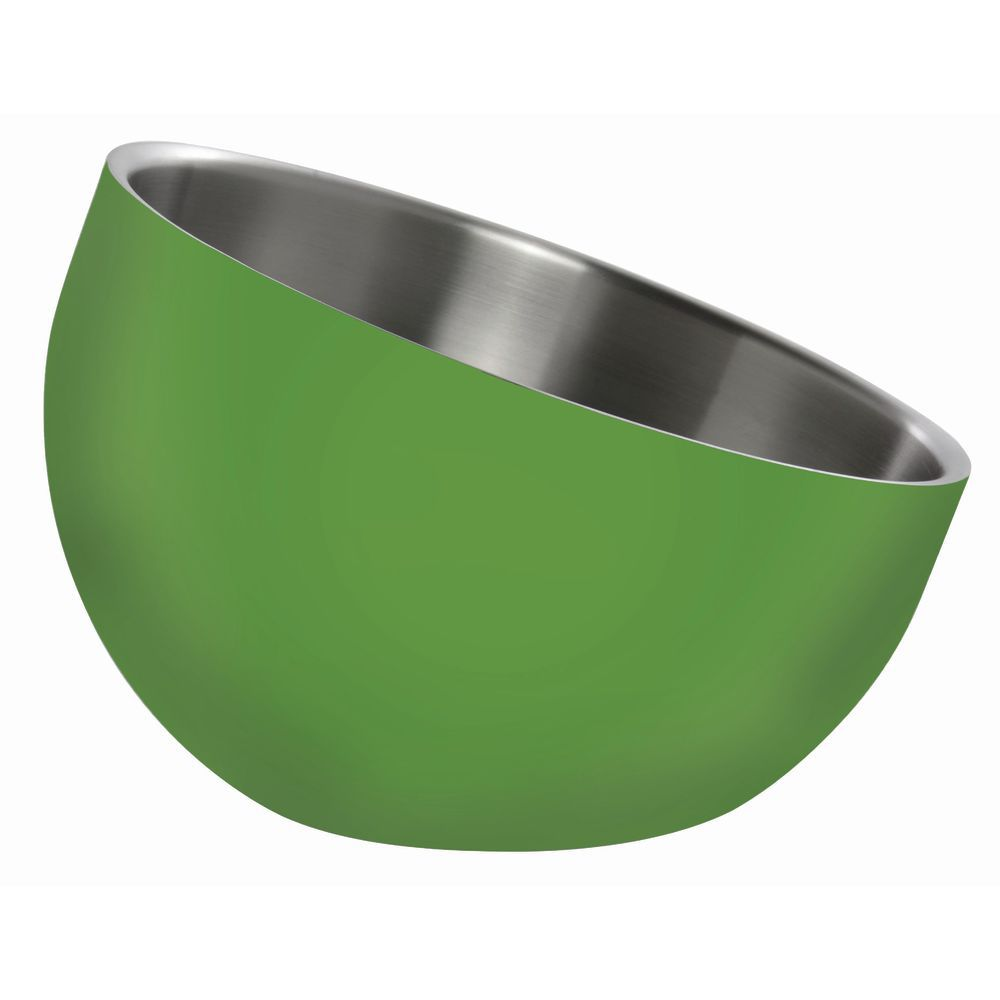 BOWL, DW, GREEN, INCLINE, 9.5X7X3.5, STAINLES