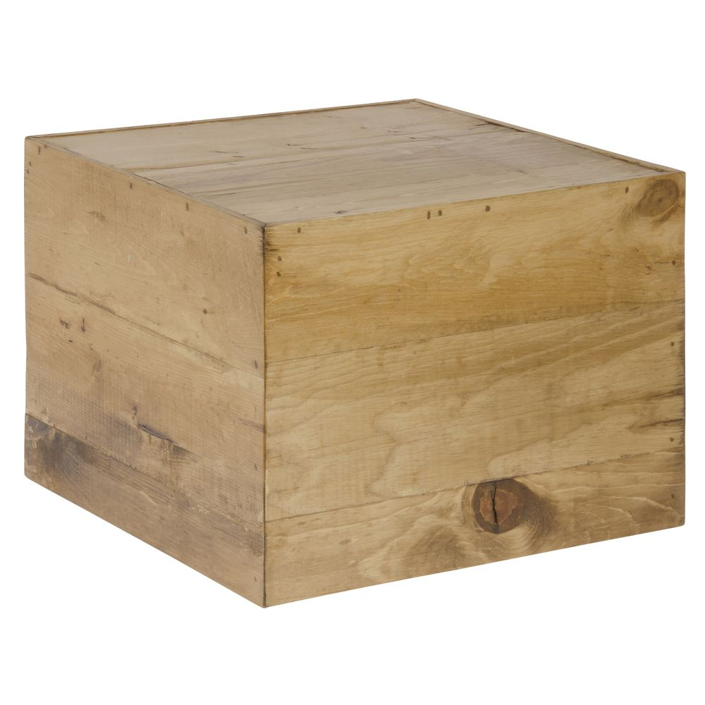 "Cal Mil Cube Riser Madera Collection 12"" Square x 9""H Wood 