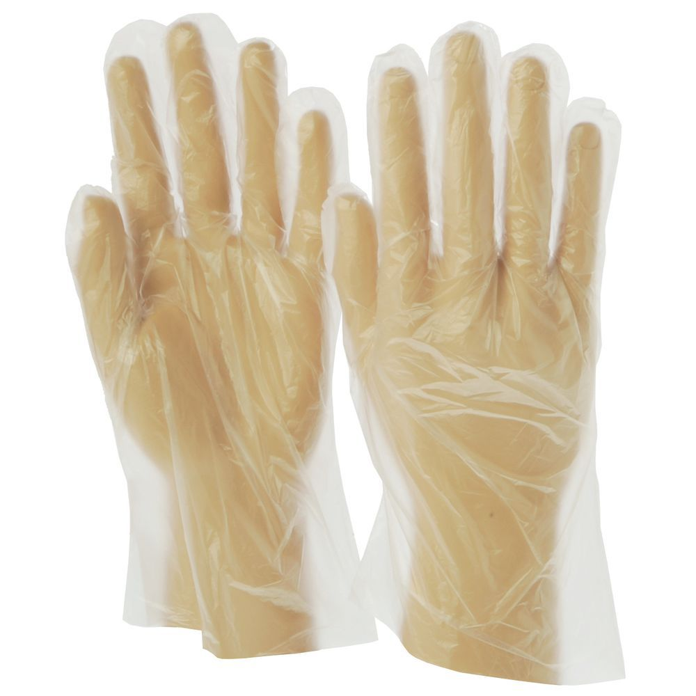 Clear Polyethylene Gloves Disposable 1 Mil Powder Free Small