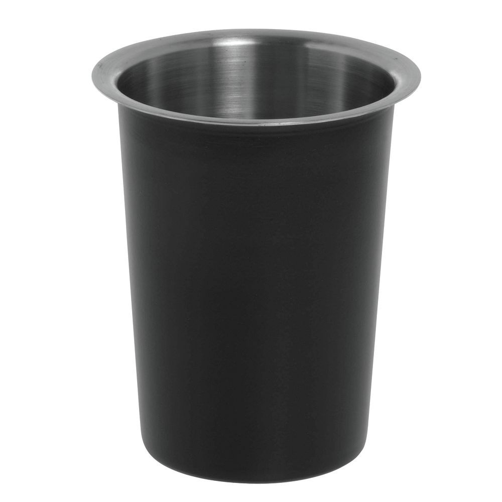 CYLINDER, CUTLERY/COND., BLK/SS-NO HOLES