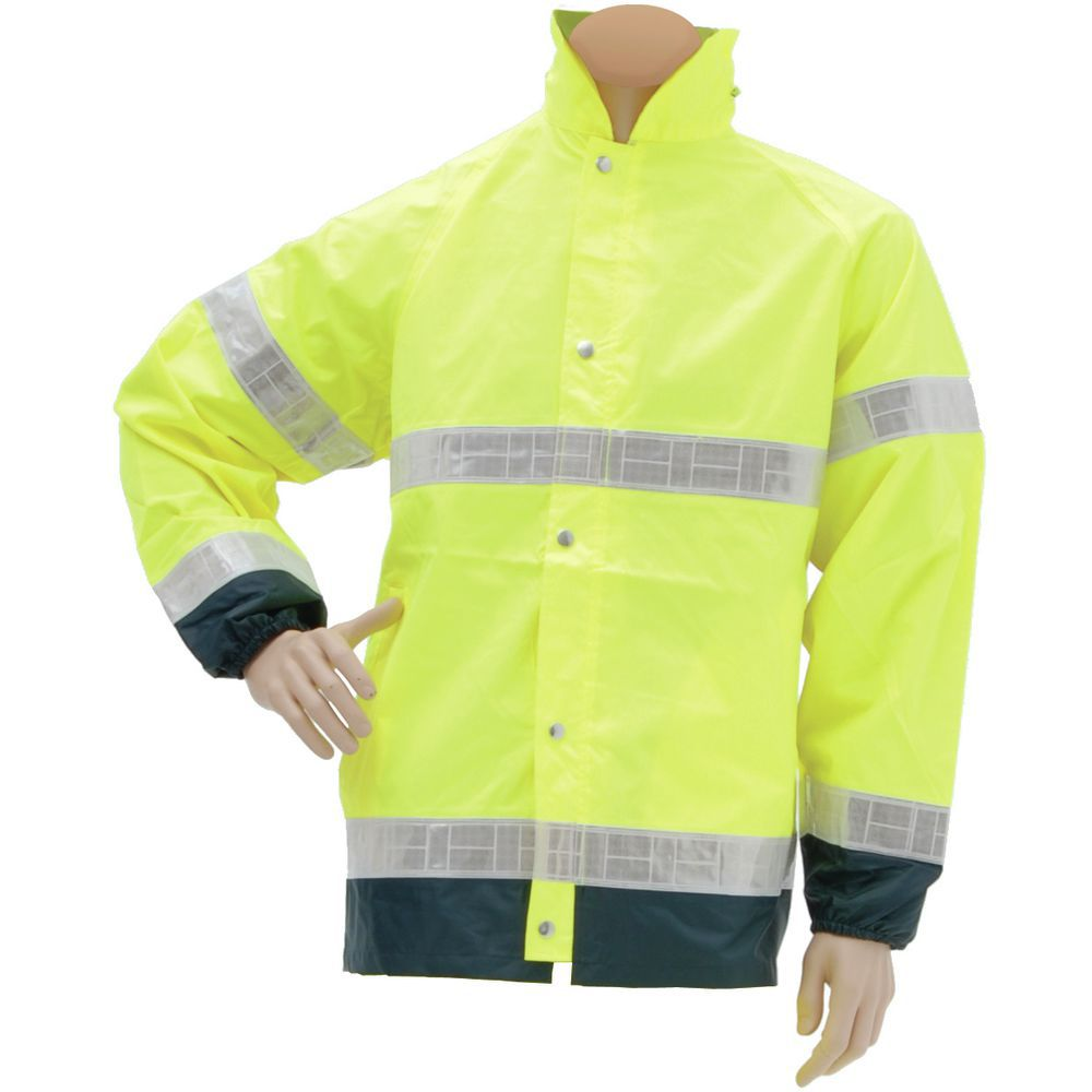 Rain Jacket Hi Visability 4XL Yellow