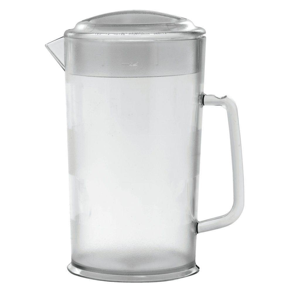 CAM-WEAR COVERED PITCHER, 64 OZ., CLEAR