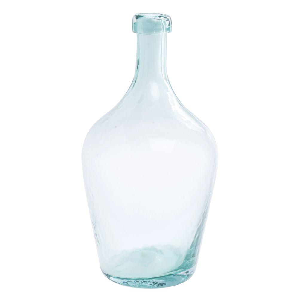 """VASE, LAGUNA, GLASS, AQUA, 15-1/2""""H"""