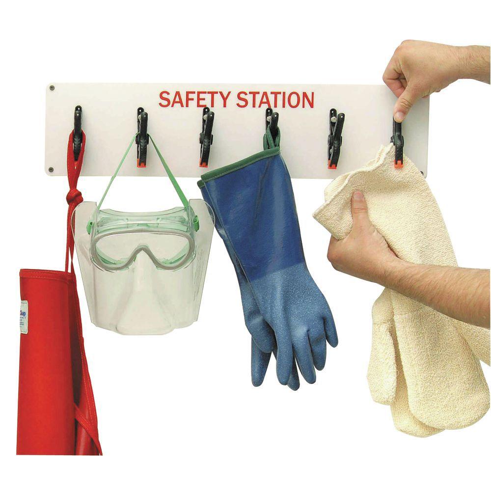 """Hubert 6 Clamp Glove Rack 24""""L x 5 3/4""""H"""