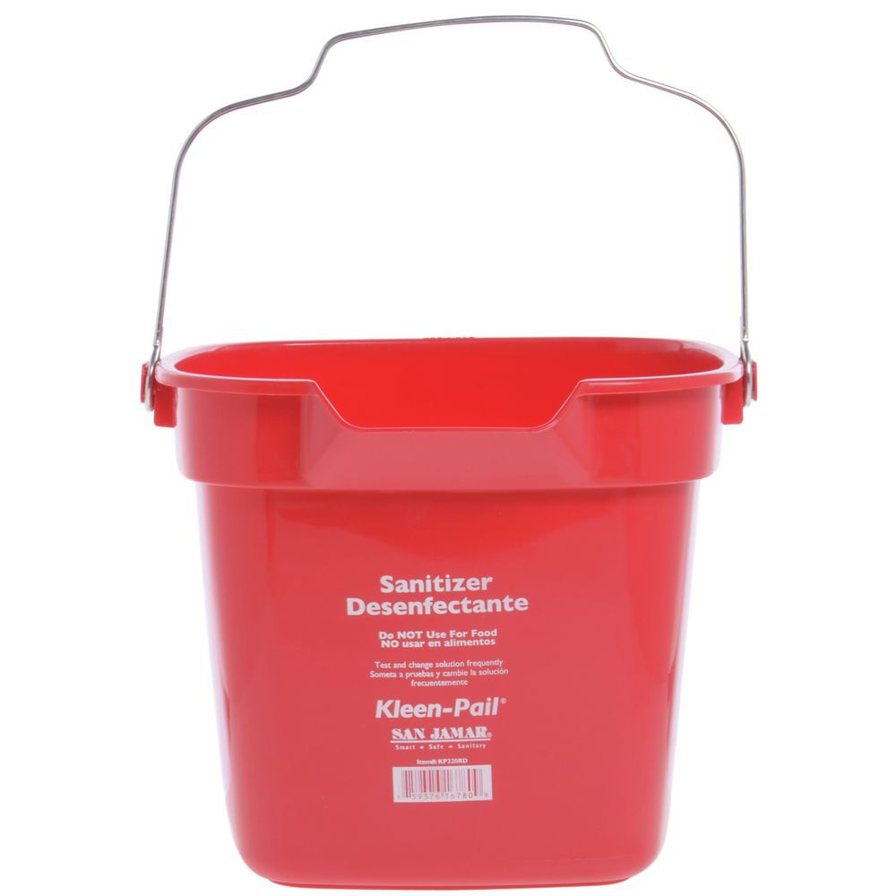 Plastic Bucket Marked to Eliminate Confusion Regarding Food Storage and Cleaning Containers