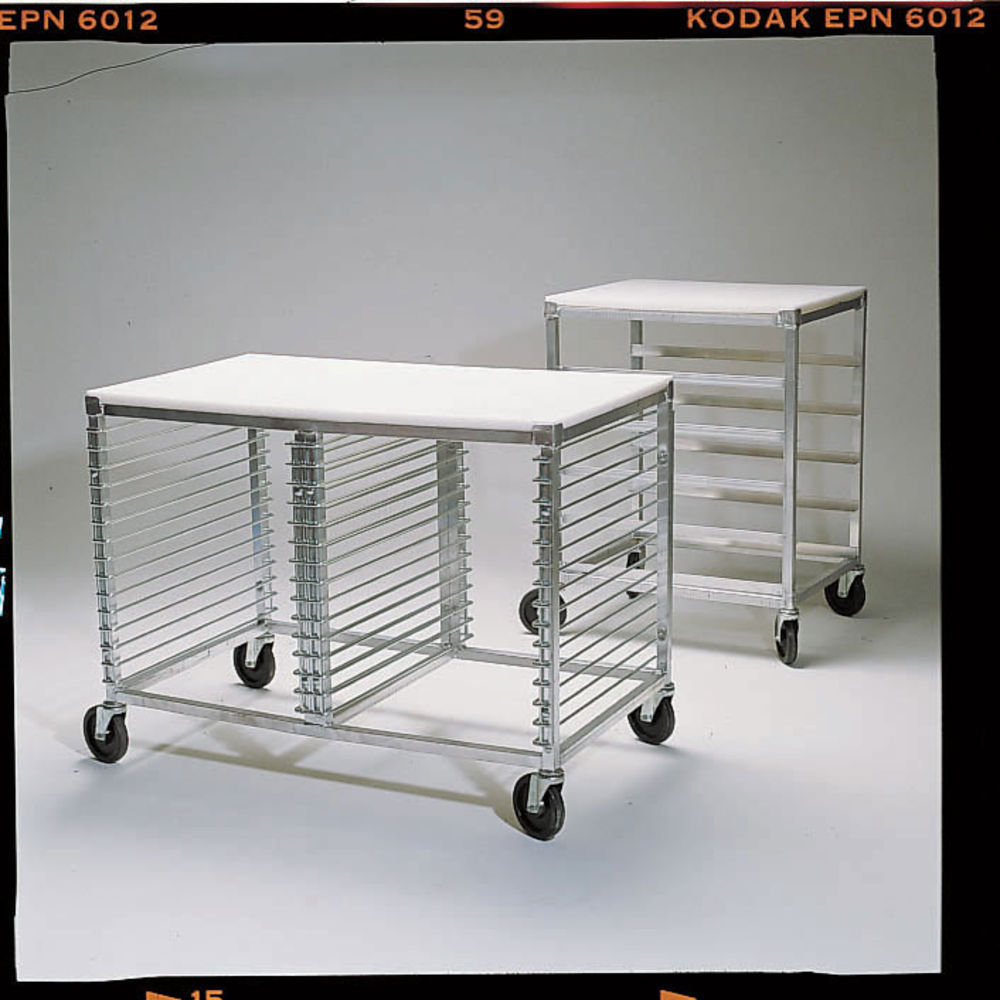 TABLE, POLY TOP MOBILE, WIRE-30 PAN