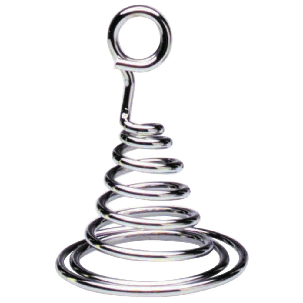 Expressly HUBERT® Chrome Metal Spiral Cone Sign Holders - 3\