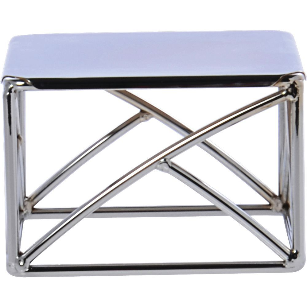 "Delfin Square Pedestal Riser 6""L x 6""W x 4""H Stainless Steel"