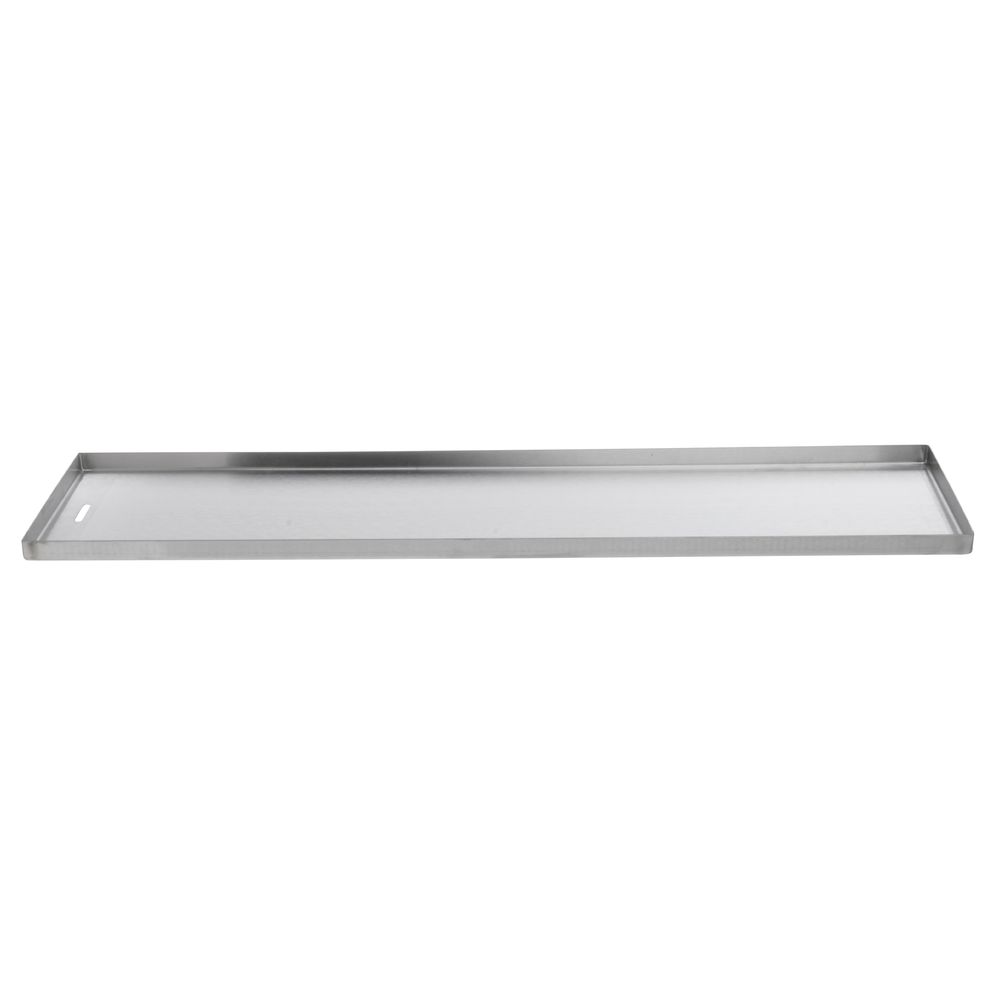"PAN, STAINLESS, DRAIN SLOT, 8""X30""X0.75""D"