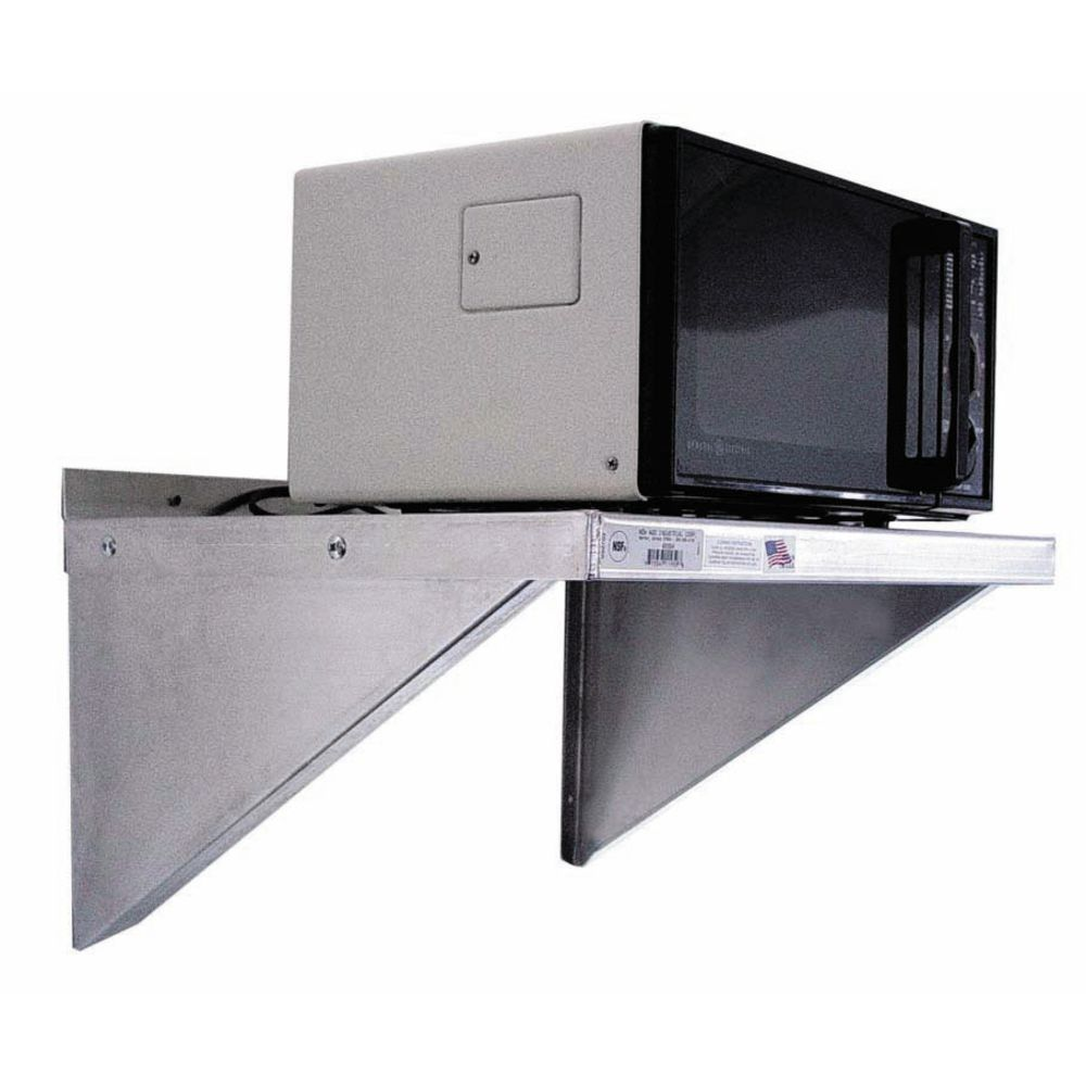 SHELF, WALL, FOR MICROWAVE, 24X18, ALUM.