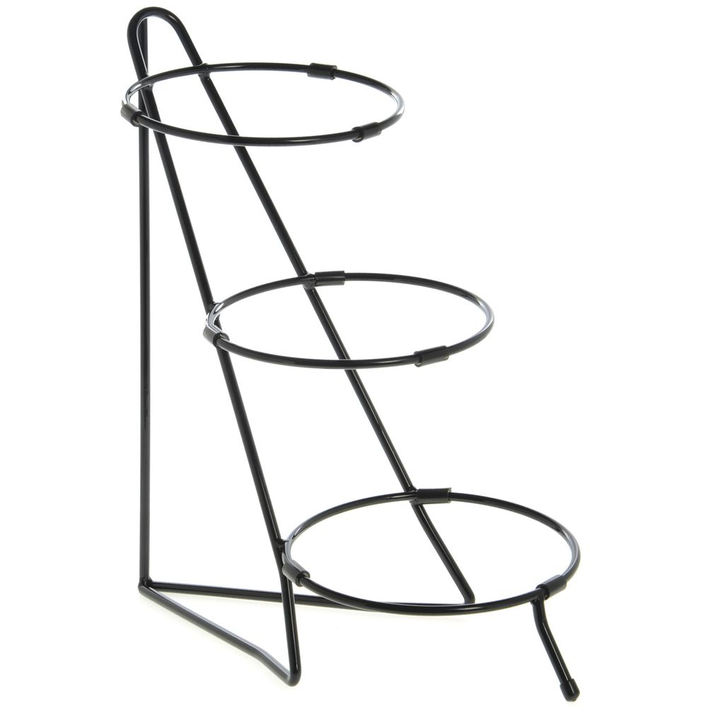 STAND, 3-TIER SMALL BOWL, WIRE, BLACK