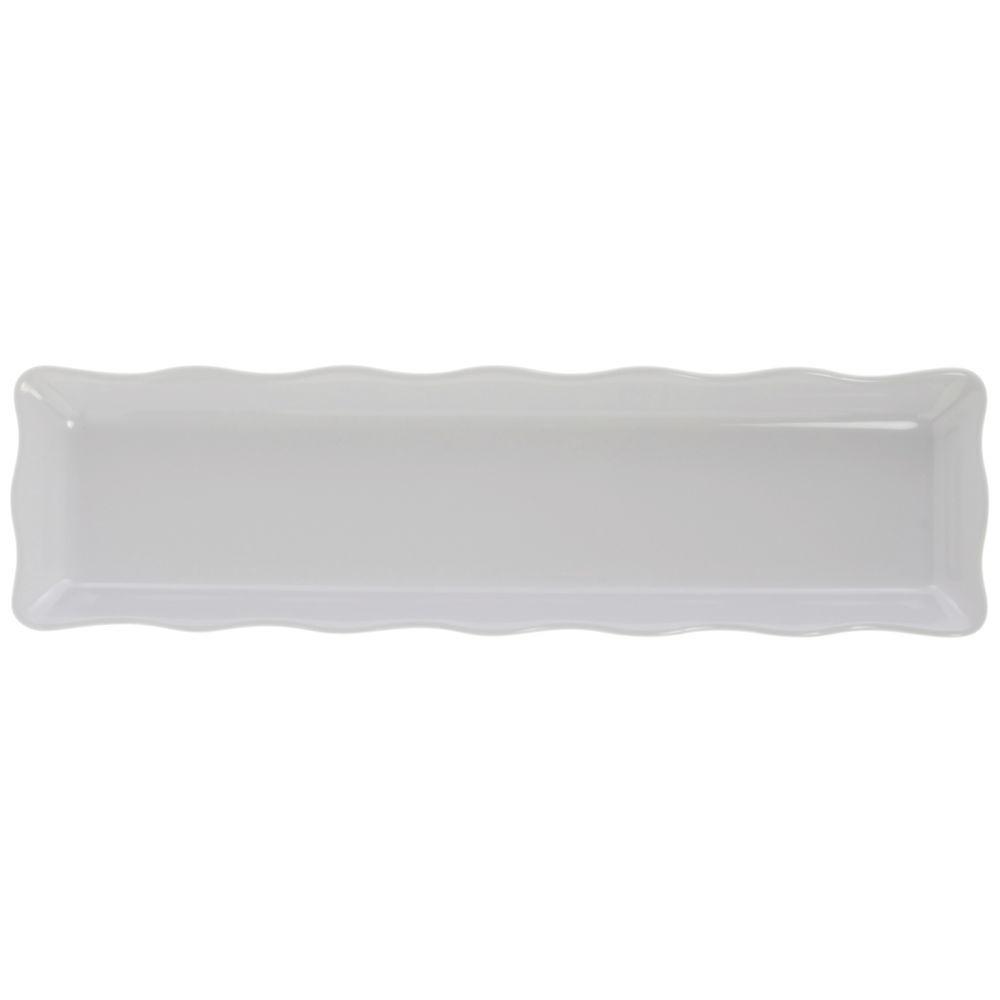 Rectangular White Melamine Platter