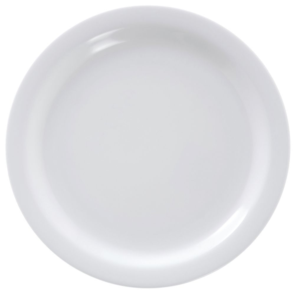 "Carlisle Melamine Dinnerware Dallas Narrow-Rim Dinner Plate 9"" Dia Bright White"