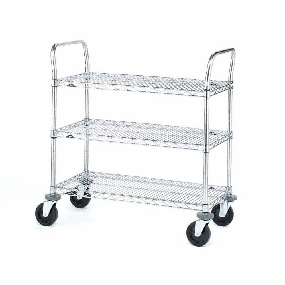 Metro Black Basket Shelf Steel Wire Cart