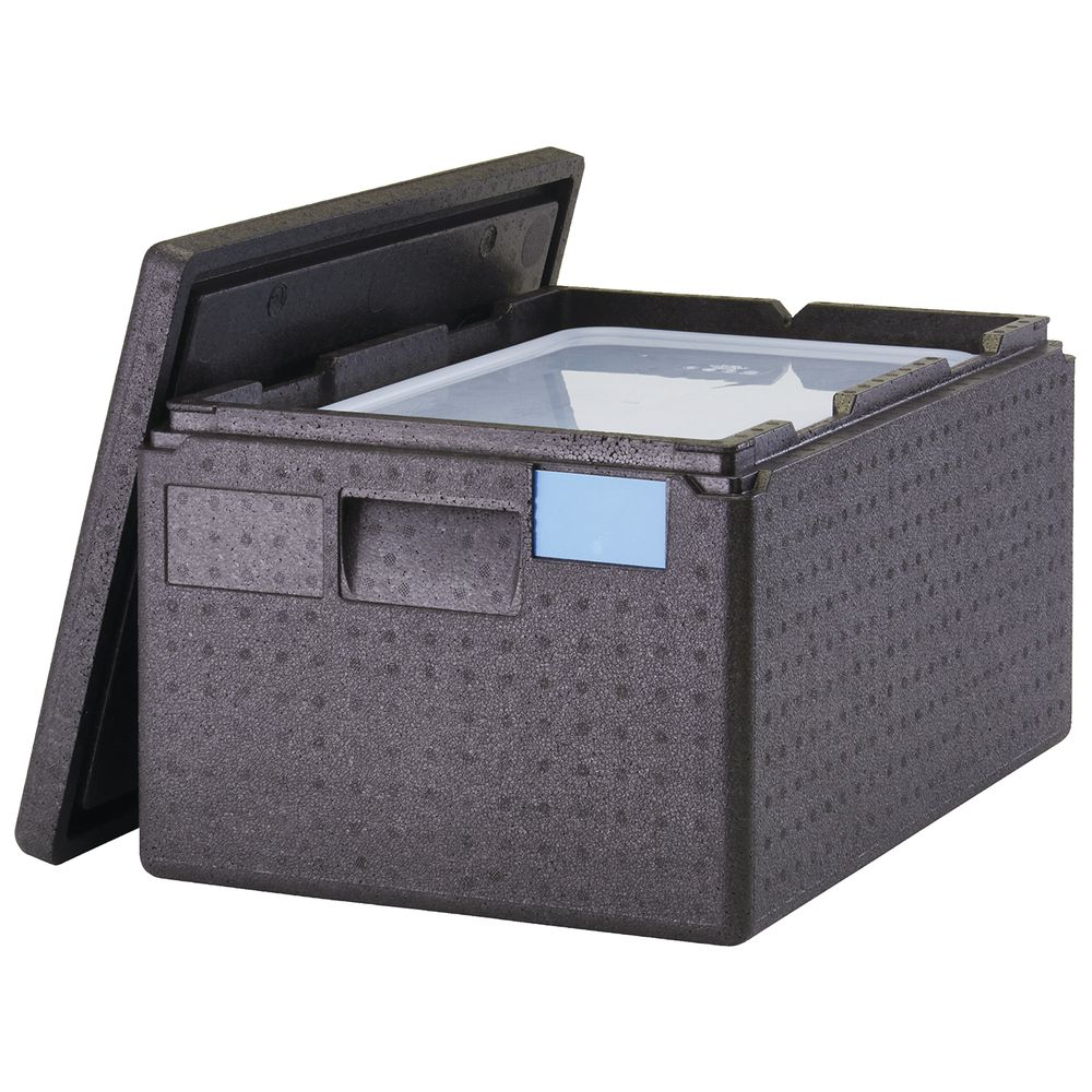 Cambro Cam GoBox<sup>®</sup> Black Plastic Top Loading Pan Carrier