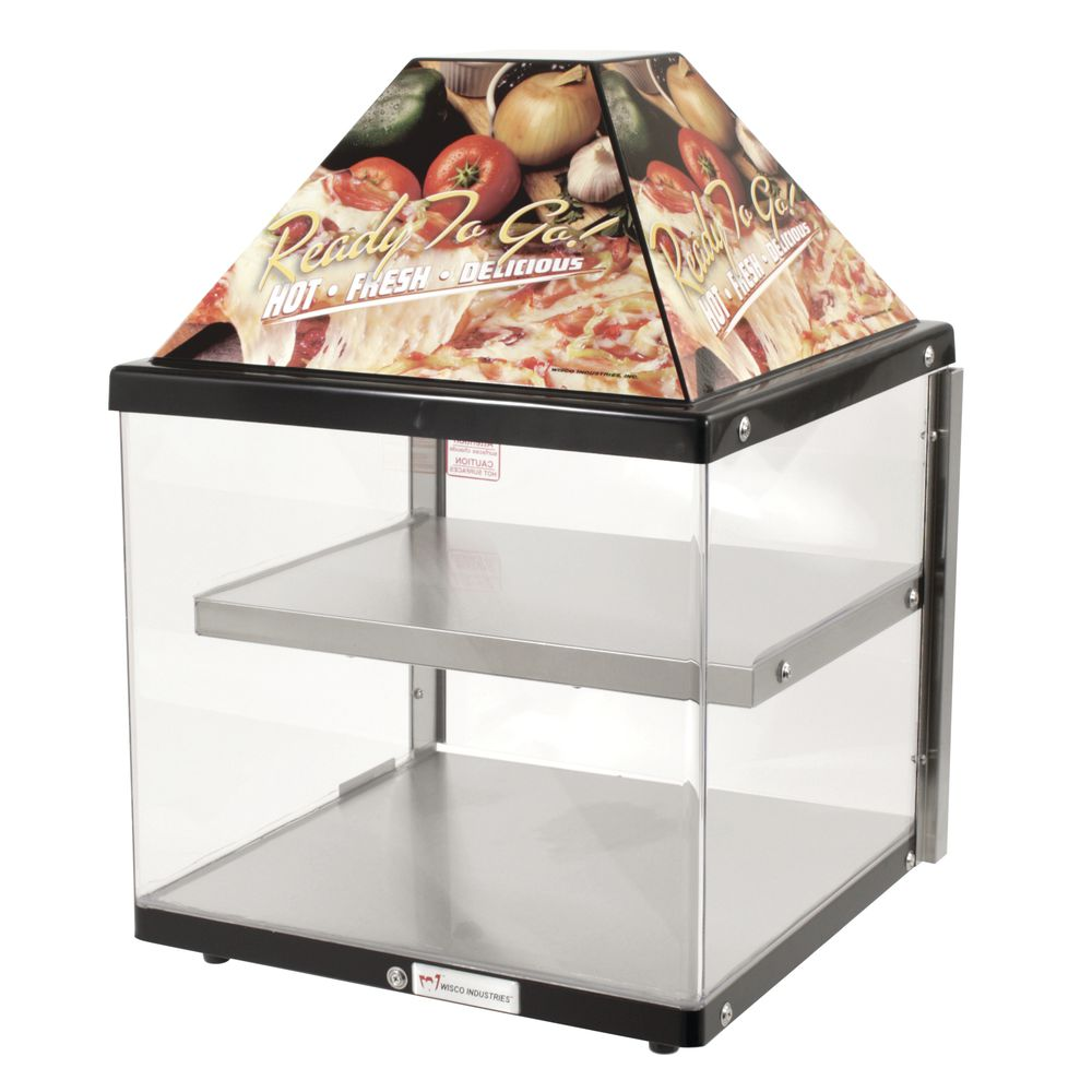 TWO PAN PIZZA WARMER-BLK EXTERIOR