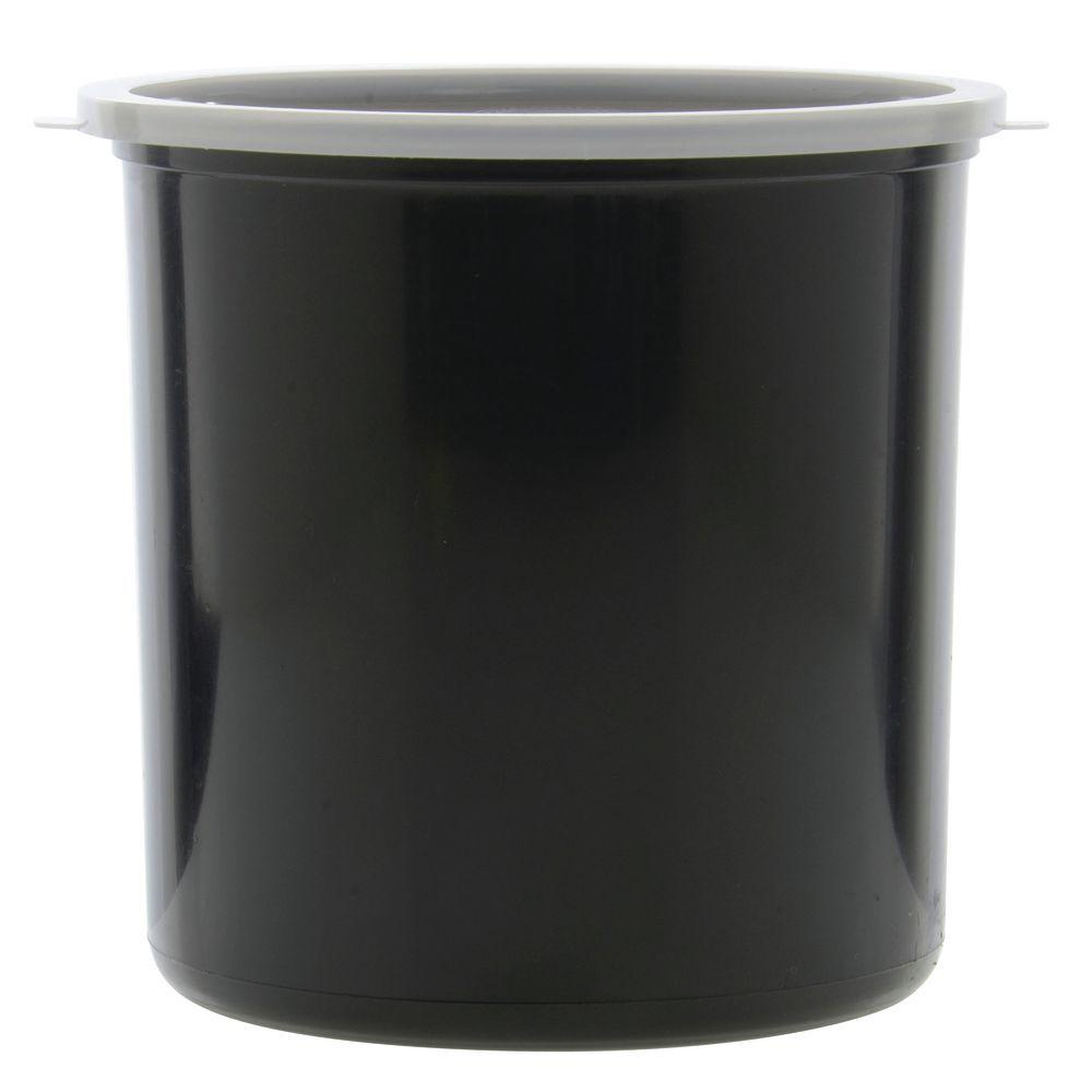 CROCK, BLACK, POLYPROPYLENE, 2.7QT, W/LID