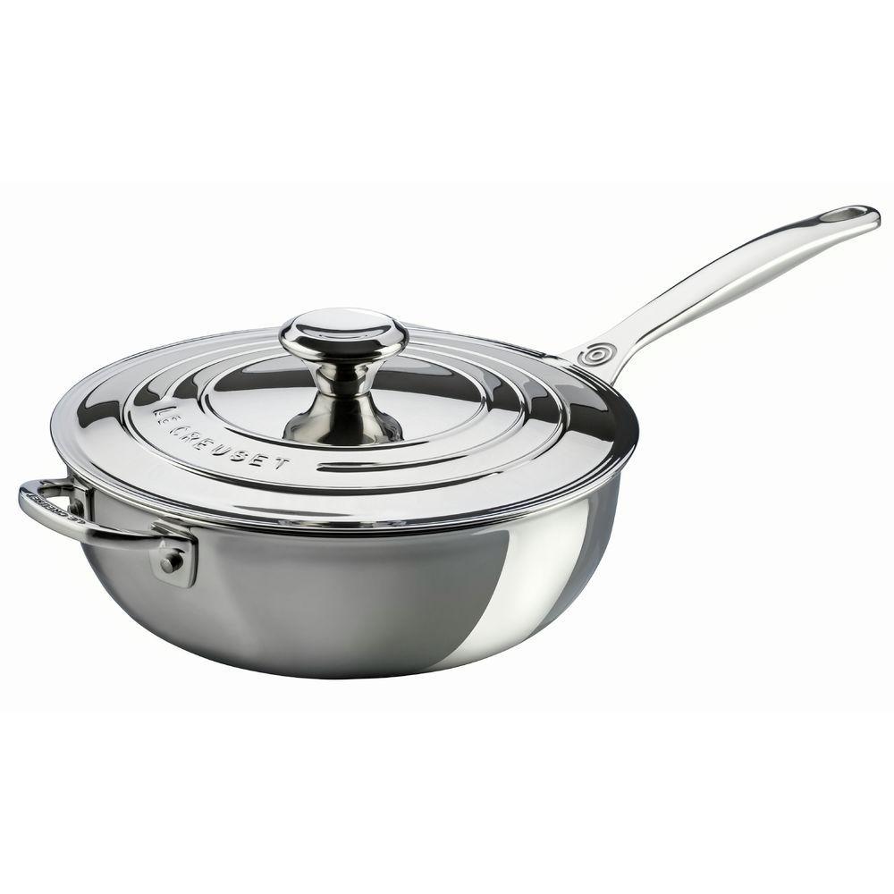 PAN, SAUCIER, TRI-PLY, 3.5QT, W/HELPER HNDLE