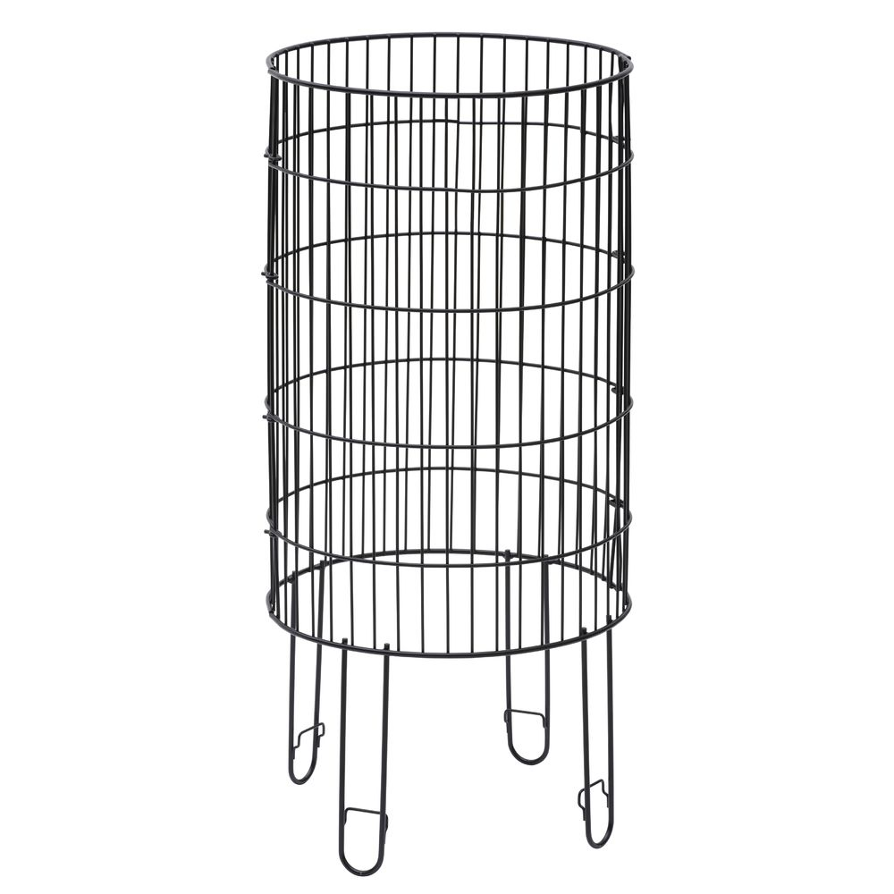 Round Black Wire Collapsible Dump Bin - 15\