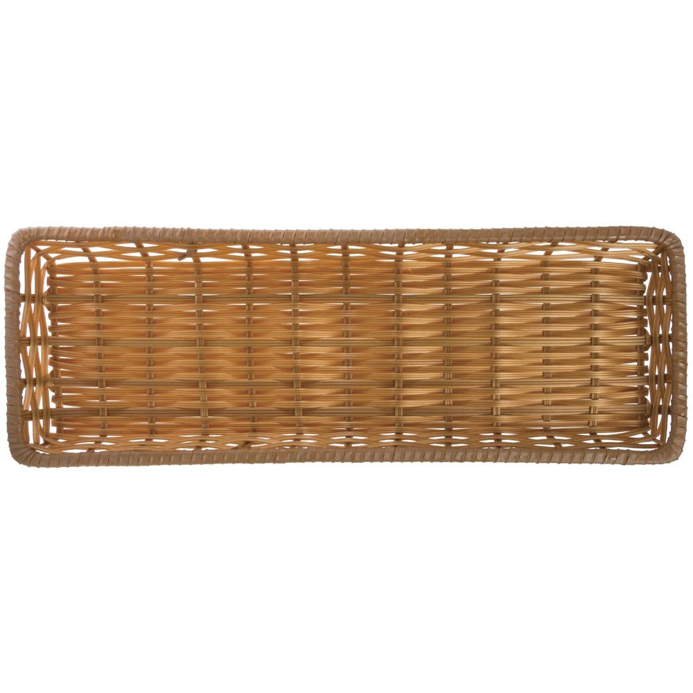 """Tri-Cord Washable Wicker Display Basket in Natural Color 26""""L x 9""""W x 2""""H"""
