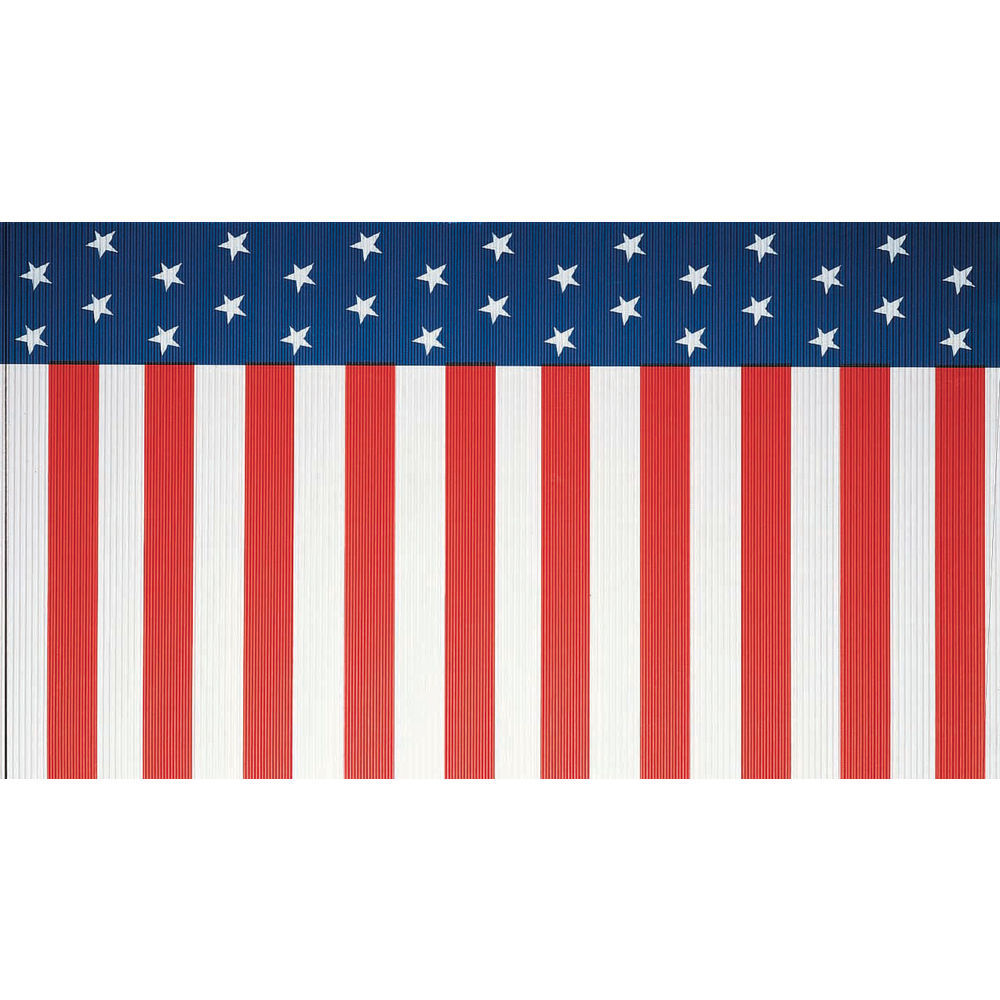 """Corobuff Awning Stars And Stripes Blue/Red/White 25'L x 24""""W Corrugated Paper"""