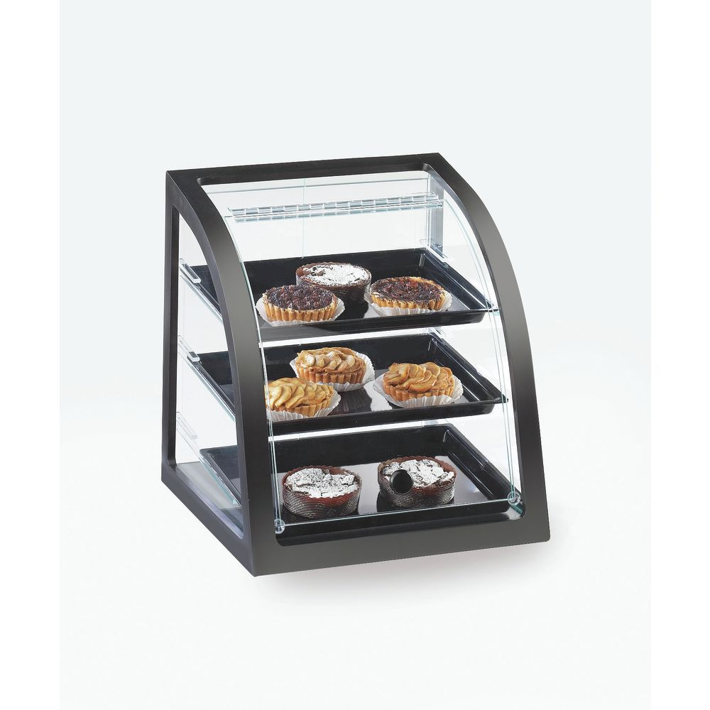 Cal-Mil Midnight Black Collection Bakery Display Case Attendant Serve
