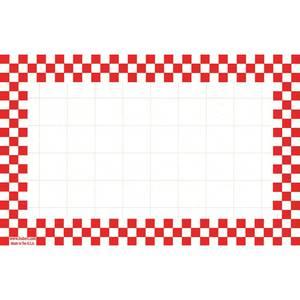CARDS, CHKBD, 3-1/2 X 5-1/2, RED