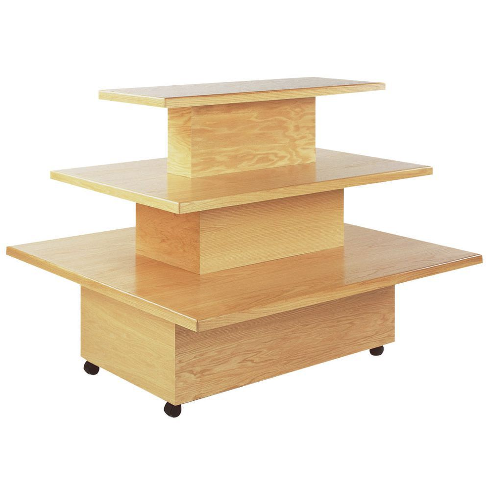 DISPLAY, RECTANGULAR TRI-LEVEL, MAPLE