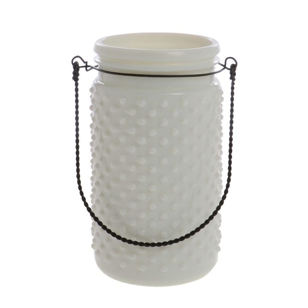 JAR, HOBNAIL, WHITE, 4X8